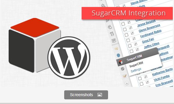 WordPress SugarCRM Integration Plugin