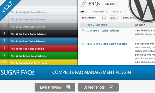 Wordpress FAQ Management Plugin