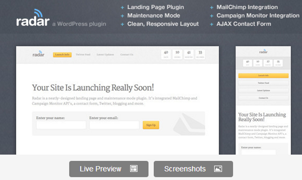 Wordpress Premium Landing Page Plugin