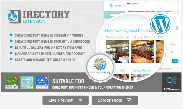 Directory & Business Finder Extension Plugin