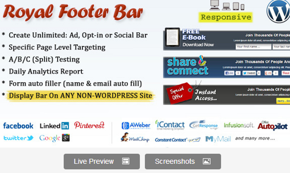 Wordpress Footer Bar Plugin