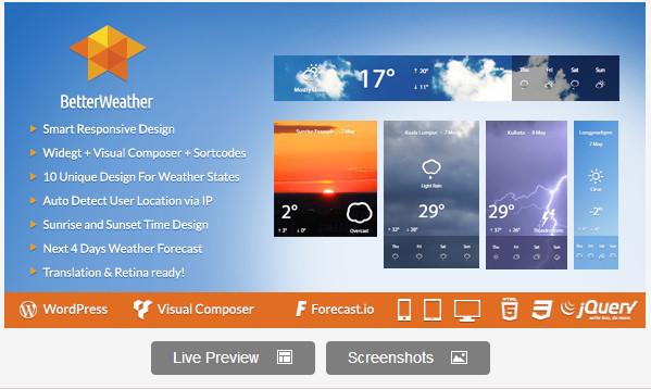 Better Weather - WordPress version