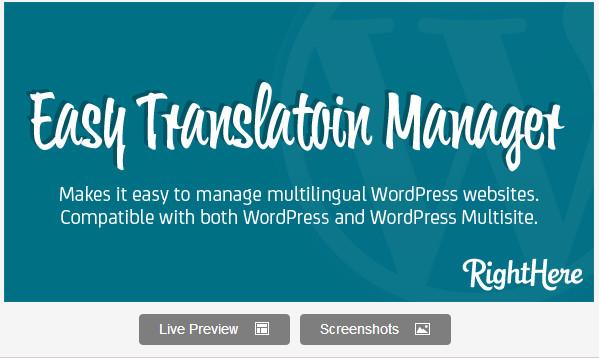 Easy Translation Manager for WordPress