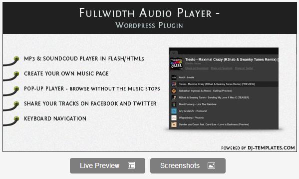 Fullwidth Audio Player