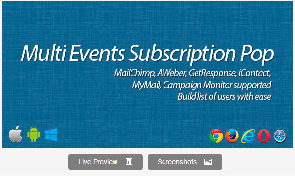 Multi Events Subscription Pop