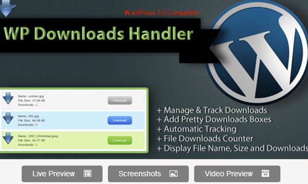 WordPress Downloads Manager Plugin