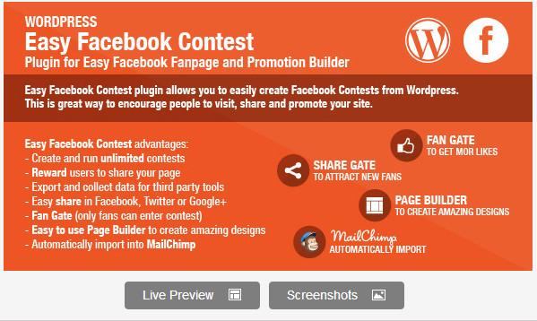 Easy Facebook Contest