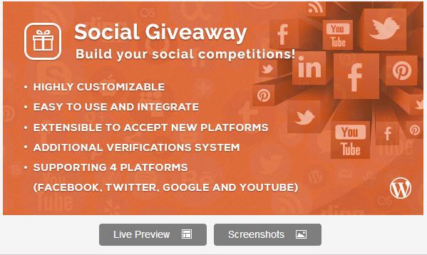 Social Giveaway WordPress Plugin
