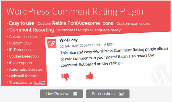 WordPress Comment Rating Plugin