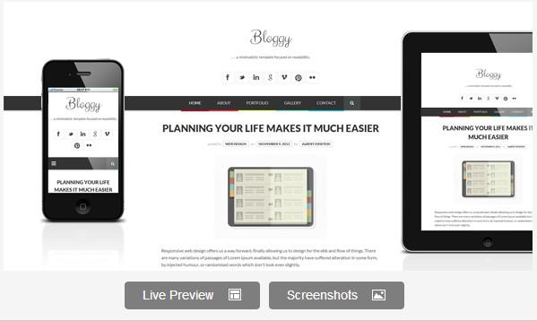 Bloggy WP - Responsive Minimalist Theme