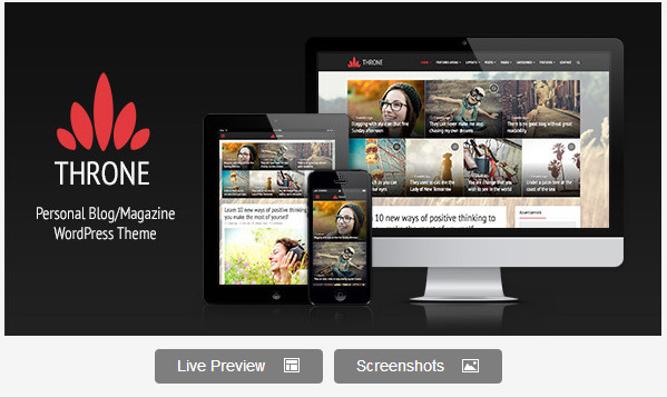 Throne - Personal BlogMagazine WordPress Theme