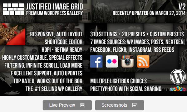 Justified Image Grid Premium WordPress Gallery