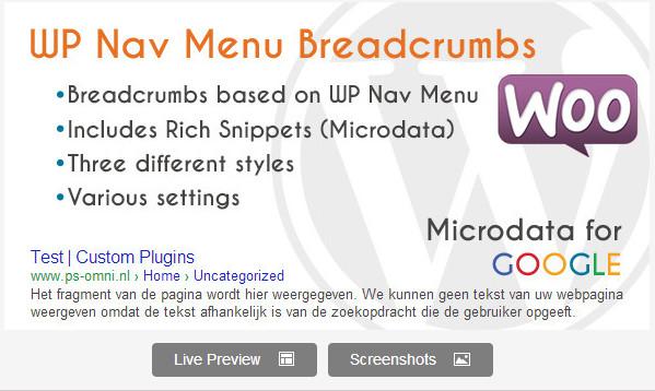 WP Nav Menu Breadcrumbs