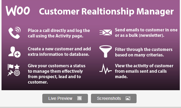 WooCommerce Customer Relationship Manager Plugin