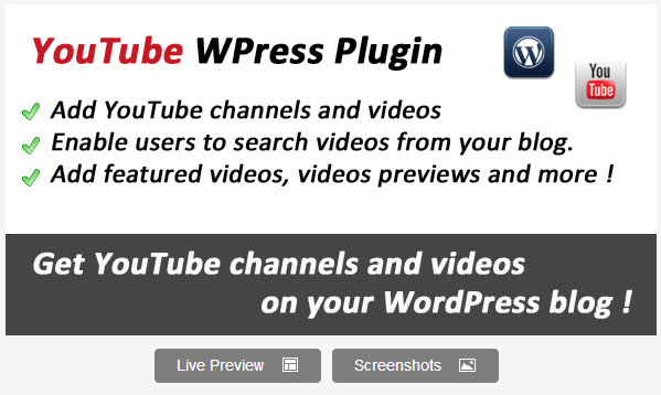 YouTube Videos for WordPress