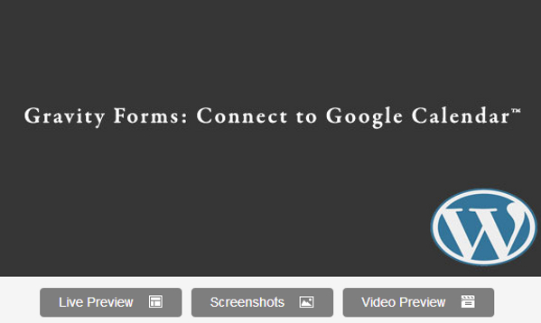 Gravity Forms Google Calendar Plugin