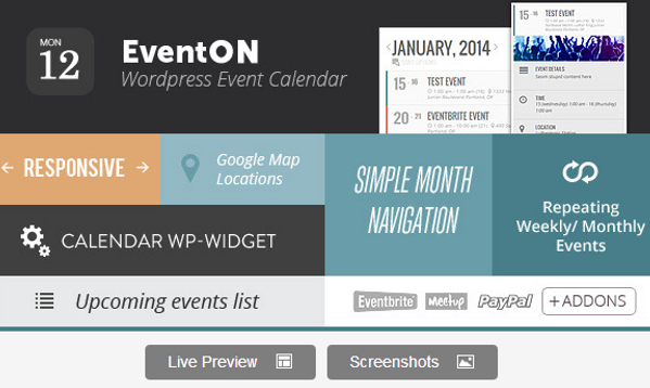 WordPress Event Calendar Plugin