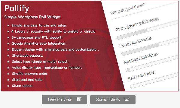 Wordpress Poll Plugin