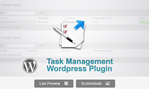 Wordpress Task Management Plugin