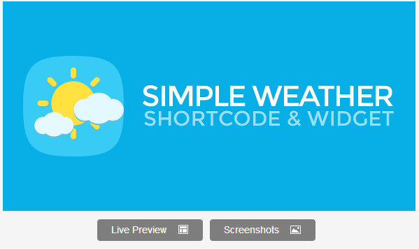 Simple Weather WordPress Shortcode & Widget