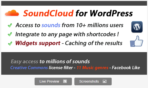 SoundCloud Search for WordPress