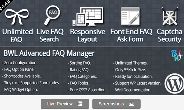WordPress Premium Advanced FAQ Manager