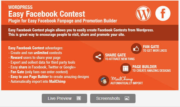 Easy Facebook Contest