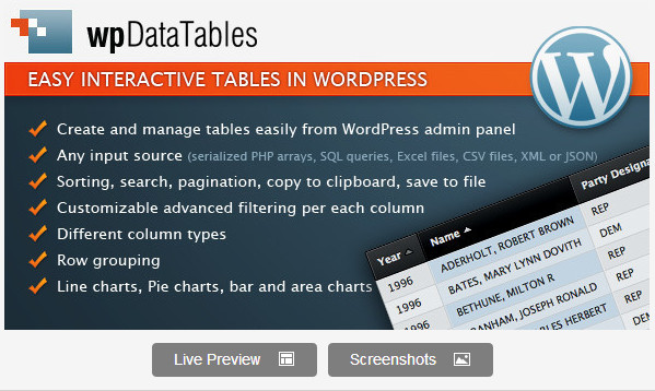 The 5 Best Free Wordpress Table Plugins | WPVirtuoso