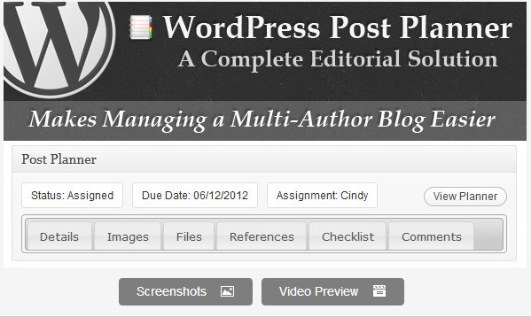WordPress Post Planner