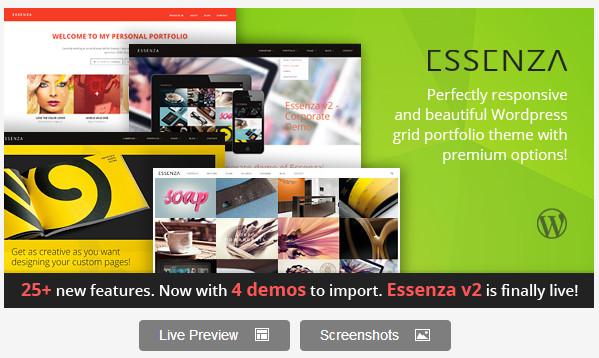Essenza - Responsive Grid Portfolio Theme