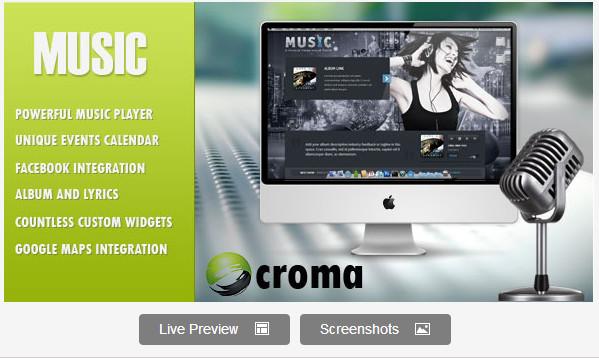 Music: Musicians theme & Facebook app