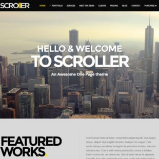 8 Free Parallax WordPress Templates