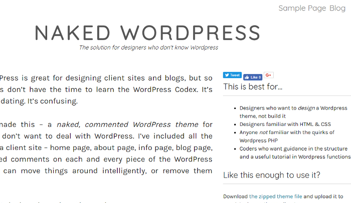 Naked WordPress